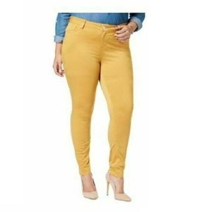 Celebrity Pink 18 Honey Mustard Skinny Jeans 6AT49